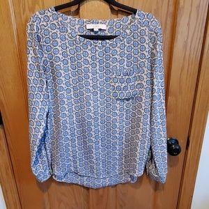 Loft, long sleeve blouse, size s